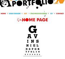 Portfolio Home Page by Gavin Shields
