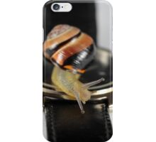 Snail on a watch iPhone Case/Skin