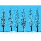 Poplars in a blue sky by ArtOfMug