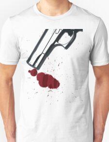 Bloody hand gun Unisex T-Shirt
