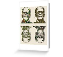 Well Camouflaged Monster Greeting Card