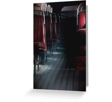 Old Bus Seats Greeting Card