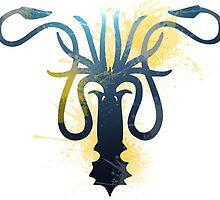House Greyjoy Octopus - Game of Thrones by eelagreen