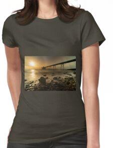 Clevedon Pier Sunset  Womens Fitted T-Shirt