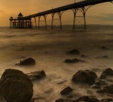 Clevedon Pier Sunset  Sticker