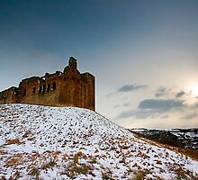 Crichton Castle in the Snow by Stuart Robertson Reynolds