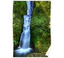 Bridal Veil Falls - Columbia River Gorge, Oregon Poster