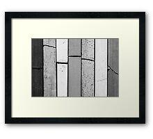 Pastels #1 (Black & White) Framed Print