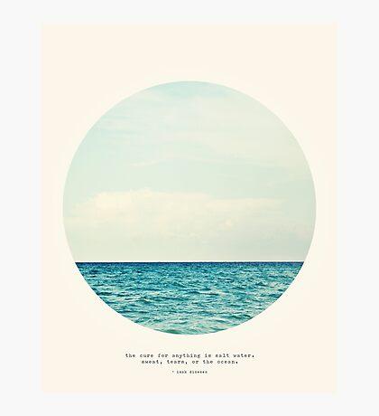 Salt Water Cure - Circle Print Photographic Print