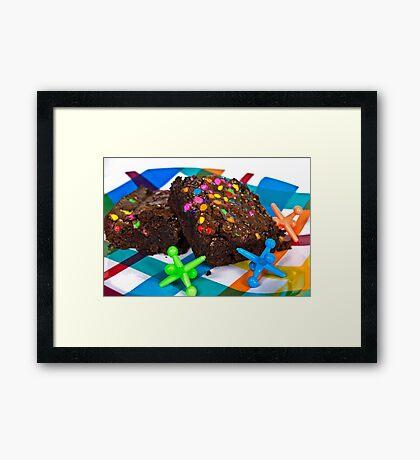 Funfetti Brownies Framed Print