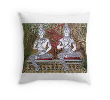 Vientiane Garden Laos Throw Pillow