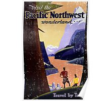 Pacific North West Vintage Poster