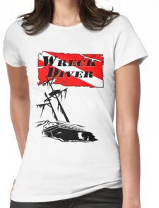 Shipwreck Diver Womens Fitted T-Shirt
