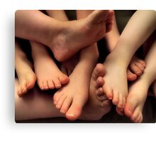 Toes Company, Feets A Crowd Canvas Print