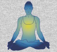 illustration beautiful woman doing yoga meditation Baby Tee