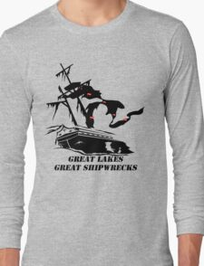 Great Lakes, Great Shipwrecks - Black Long Sleeve T-Shirt