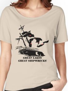 Great Lakes, Great Shipwrecks - Black Women's Relaxed Fit T-Shirt