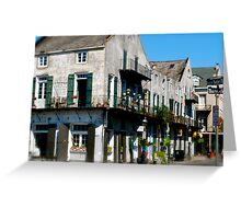 french quarter corner Greeting Card