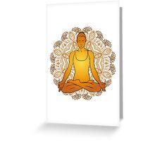beautiful woman doing yoga meditation Greeting Card