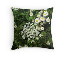 Queen Annes Lace and others Throw Pillow