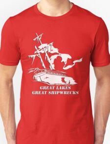Great Lakes, Great Shipwrecks - White Unisex T-Shirt