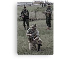 Tribute to the fallen soldiers Canvas Print