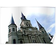 jackson square cathedral, nola Poster