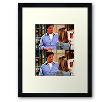 Chandler Bings Sarcasm - FRIENDS Framed Print