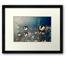 Royal Sea Blue Drops Framed Print