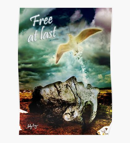 Free At Last (With Text) Poster
