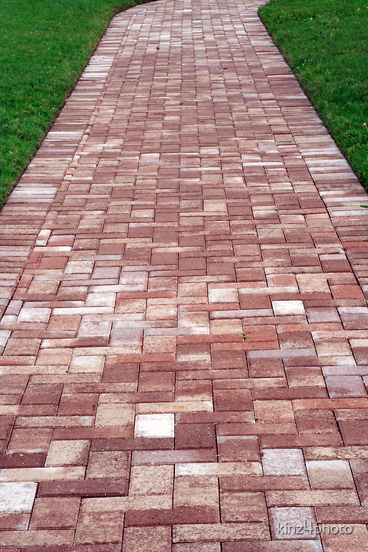 Brick path by kinz4photo