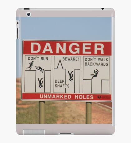 Be careful,Coober Pedy, S.A. iPad Case/Skin