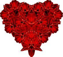 Red Heart of Flowers by Edward Fielding