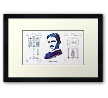 Nikola Tesla Patent Art Electric Arc Lamp Framed Print
