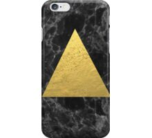 Black Gold Marble Tri - dark solid classic gold foil on marble cell phone case for college dorm  iPhone Case/Skin