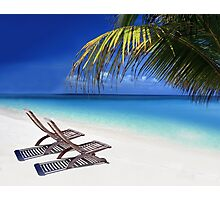 Relax at the Beach  Photographic Print