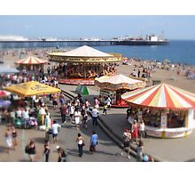 Seaside Fun and Games Photographic Print