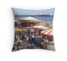 Seaside Fun and Games Throw Pillow