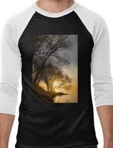 Early Gold Through the Willow Branches - A Sunrise on the Shore of Lake Ontario Men's Baseball ¾ T-Shirt