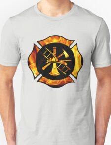 Flaming Maltese Cross Unisex T-Shirt