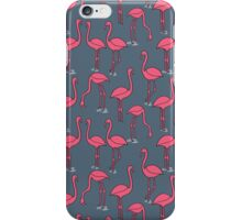 Flamingo -  Payne's Gray by Andrea Lauren iPhone Case/Skin