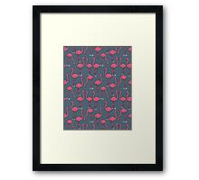 Flamingo -  Payne's Gray by Andrea Lauren Framed Print