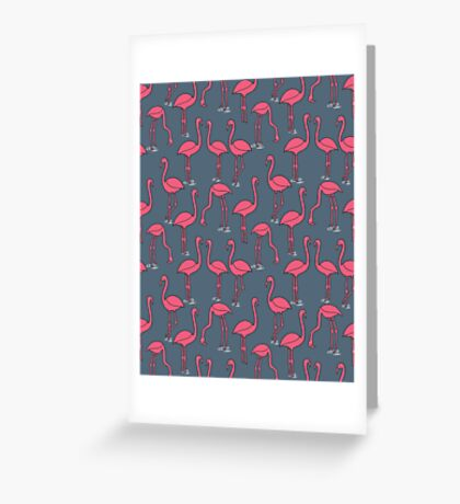 Flamingo -  Payne's Gray by Andrea Lauren Greeting Card