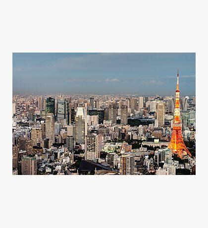 Tokyo Tower Japan at Dusk Photographic Print