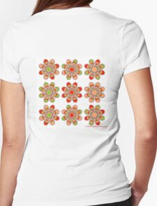 Strawberry Foot Flowers Womens Fitted T-Shirt