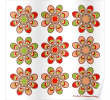 Strawberry Foot Flowers Poster