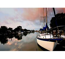 Sail Boat Morning Photographic Print
