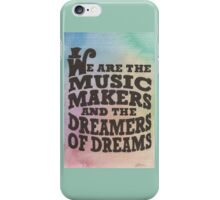 The Music Makers iPhone Case/Skin