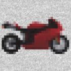 Pixel Ducati Motorbike Thing by Likely Lads