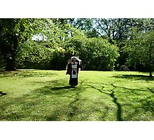 Queen Street Gardens South (with nun) Photographic Print